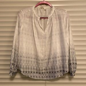 Silky patterned shirt from Gap, size XS petite